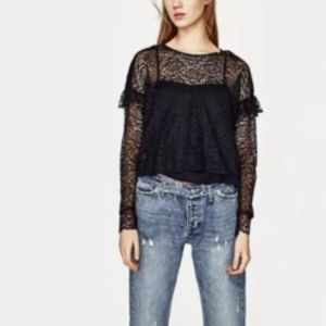 """""""PRICE FIRM"""" Zara Trafaluc Collection Lace Top"""